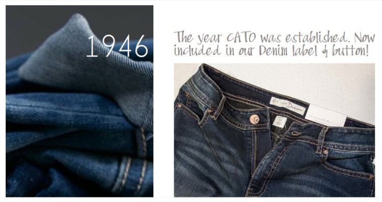 1946: The Year Cato was established. Now included in our denim label and button!