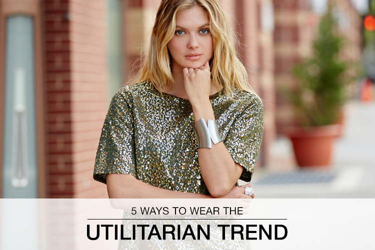 5 Ways to Wear the Utilitarian Trend. Model posing for the camera.
