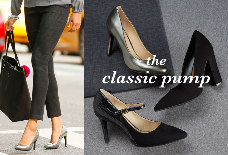 The Classic Pump. A variety of styles of the classic pump