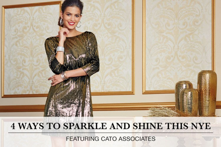 8807e0d36d 4 Ways to Sparkle and Shine this NYE  Featuring Cato Associates. A woman is
