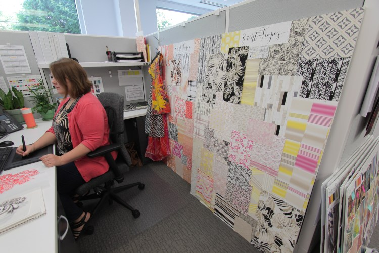 Suzanne takes her sketches to the next level by tracing them into a digital format, ready to be tested on fabric!