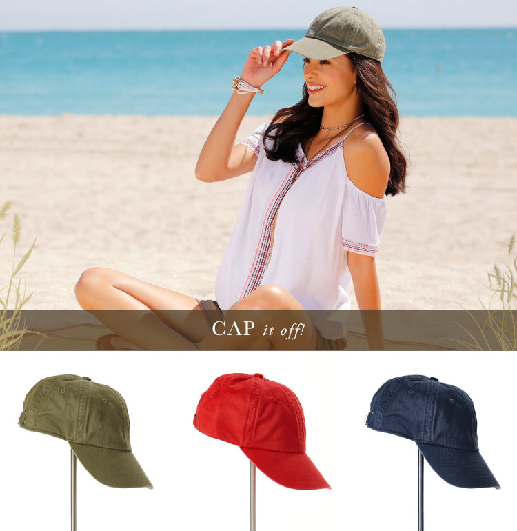 Cap it Off! A variety of Hats perfect for the beach