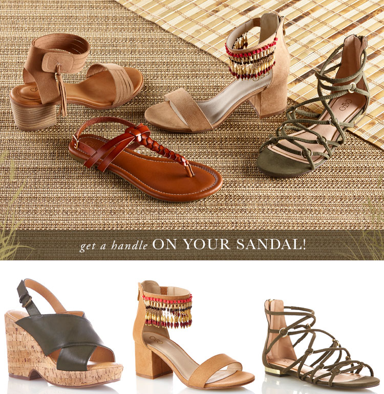 Get a Handle on Your Sandal! Picture of a variety of sandal styles