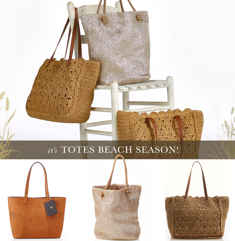 It's Totes Beach Season! A variety of tote bag styles