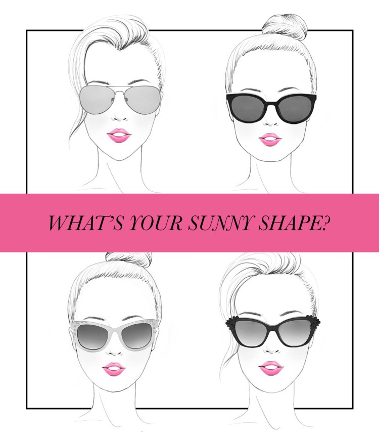 What's your sunny shape? four faces, all different shapes - we are going to help you pick the best sunglasses for your face shape!