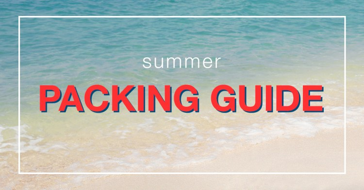 Summer Packing Guide with beautiful beach in the background