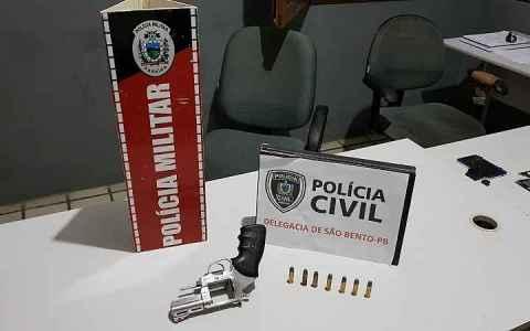 operacao policial varredura apreende arma de fogo na cidade de sao bento pb
