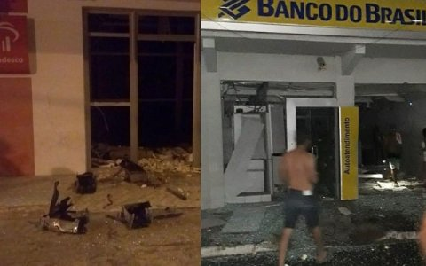 terror em marcelino vieira rn criminosos fazem refens e explode agencia bancaria e correios