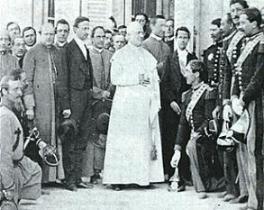 """S.S Pio IX :seamos firmes nada de conciliación; nada de transacción vedada e imposible""""."""