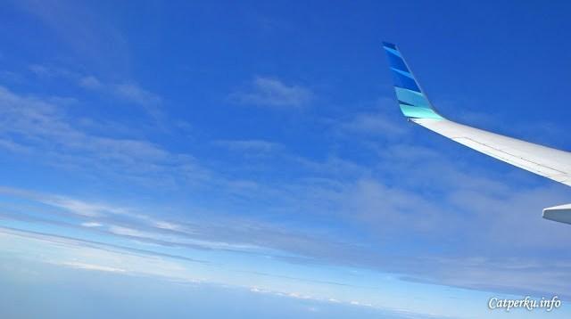 Inilah cuaca yang sangat saya sukai ketika terbang dengan pesawat :))