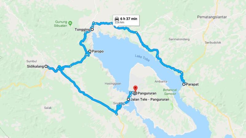 Day 7 - 14 Maret 2019 : Parapat - Samosir (via Tongging, Paropo, Sidikalang, Tele, Pangururan)
