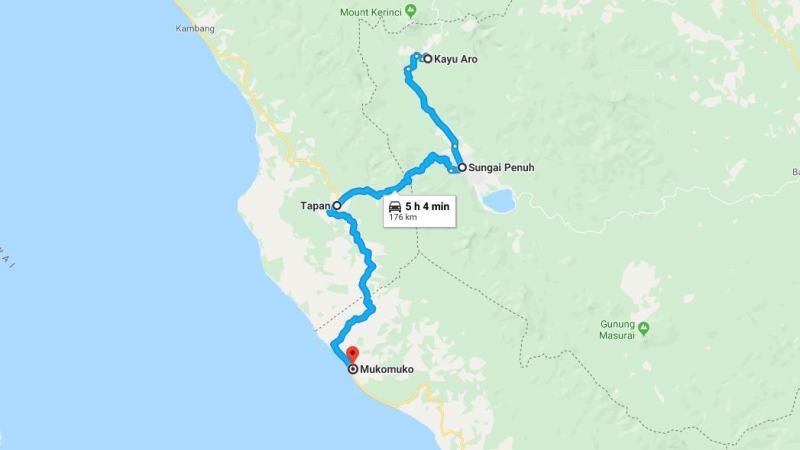 Day 15 - 22 Maret 2019 : Kayu Aro - Mukomuko (via Sungai Penuh, Tapan)