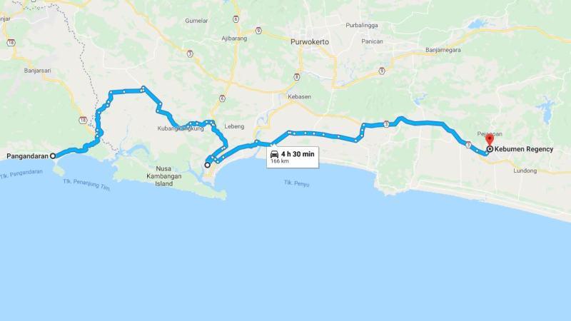 Day 27 - 3 April 2019 : Pangandaran - Kebumen (via Pertamina Refinery Cilacap)