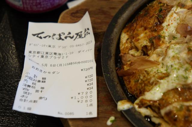 720 Yen seporsi, oke lah! Tidak terlalu mahal :D
