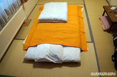 Akhirnya saya bisa merasakan tidur memakai futon seperti Nobita :D