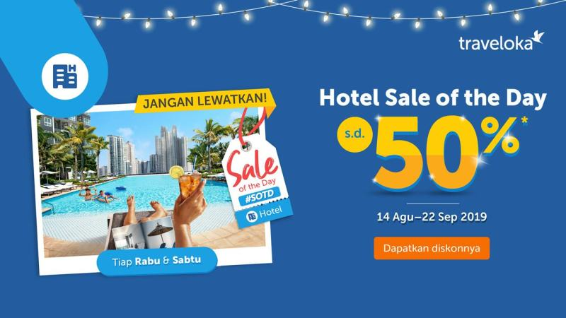 Promo August deal of the day traveloka!