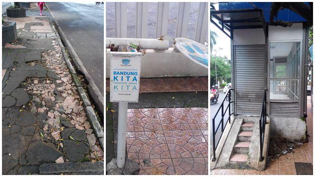 Ayo! Bandung bisa lebih baik dari ini. Trotoar rusak, tempat sampah menghilang entah kemana, halte yang sepi... Ini serius di Bandung kah?