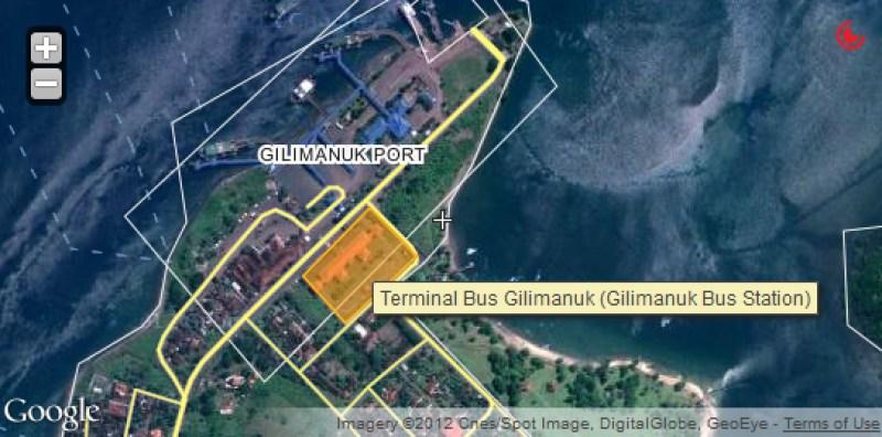 Gilimanuk dan terminal bus yang menyediakan rute Gilimanuk - Denpasar juga begitu.
