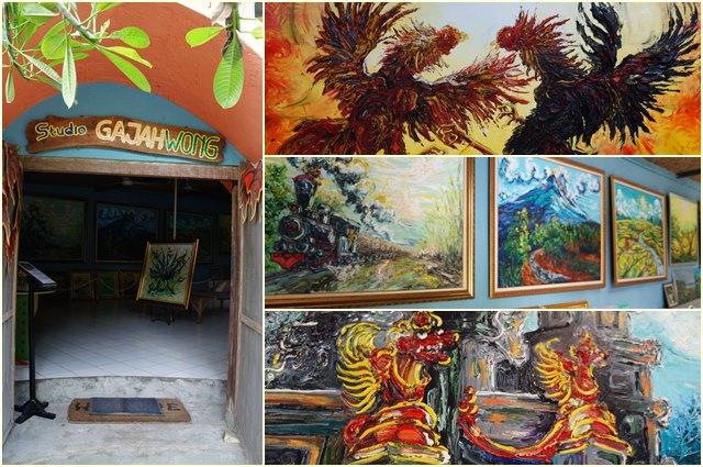Beberapa lukisan dan bagian dalam Studio Gajahwong.