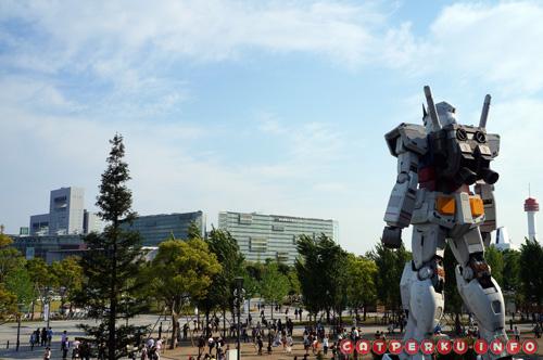 Gundam akan senantiasa menjaga perdamaian di Kota Odaiba