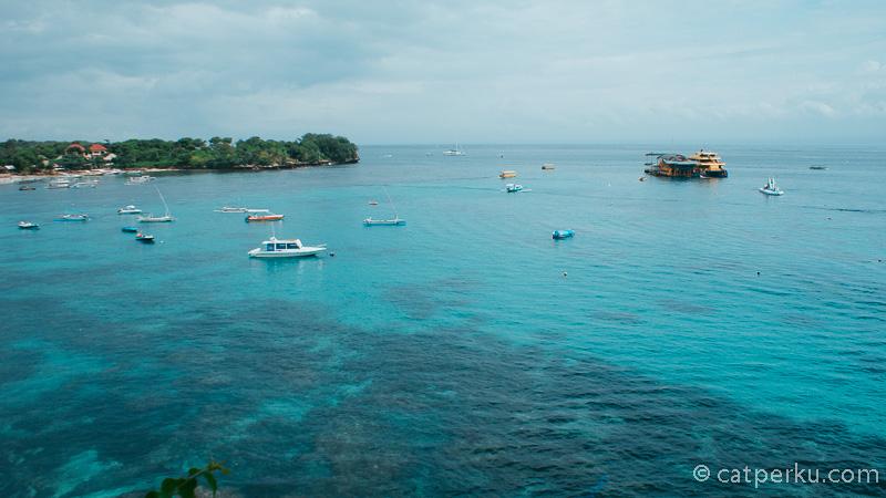 Blue Pristine water, salah satu best spot Nusa Lembongan.