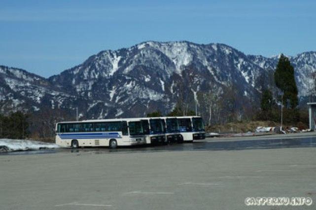 Dari Bijodaira sampai Murodo naik bus! enggak jalan kaki ya :D