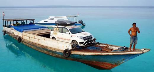 Daihatsu Terios juga bersandar di Pulau Maratua