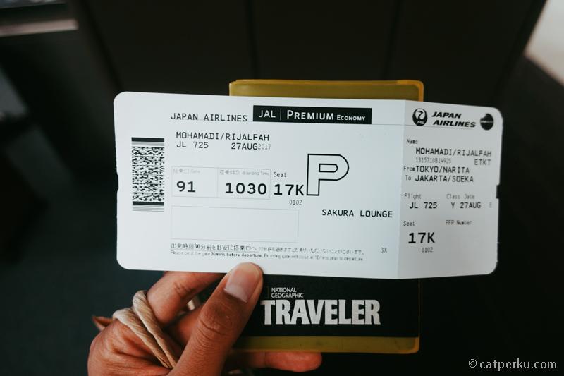 Dapat kesempatan cobain kelas Premium Ekonomi waktu pulang dari Jepang di musim panas 2017
