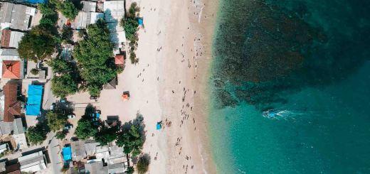 Foto drone dari atas Pantai Tambakrejo.