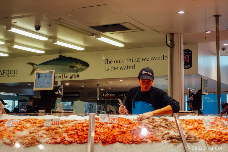 Fresh seafood is everywhere in Sydney Fish Market!