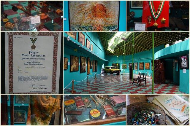 Galeri pertama dengan beberapa koleksi Affandi.