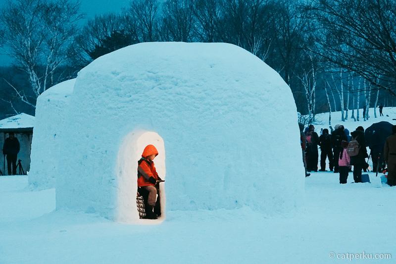 Hiruzen Yuki-Koi Snow Festival.