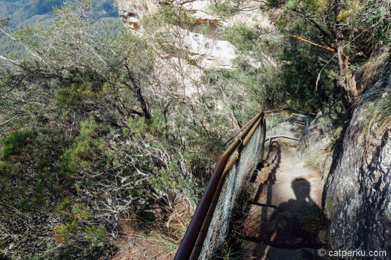 Kalau ini jalan buat trekking ke kawasan Blue Mountain National Park. Kapan ya cobain jalur trekking ini?