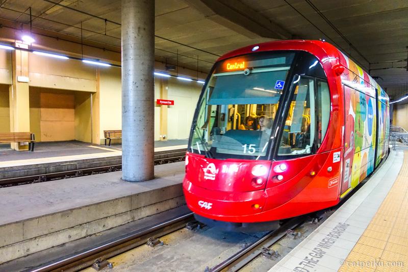 Light Rail salah satu moda transportasi yang bisa digunakan untuk keliling Sydney