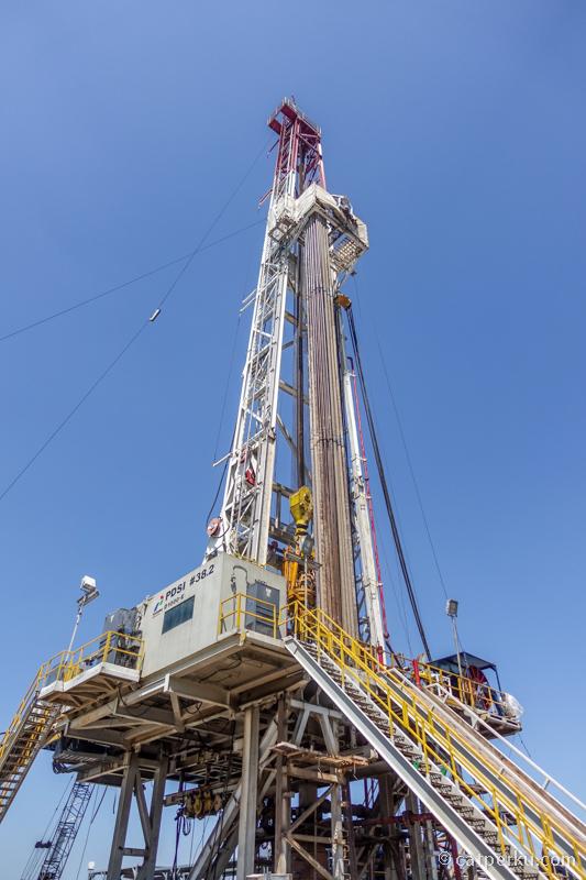 Mesin raksasa ini yang digunakan untuk mengebor minyak di salah satu site Pertamina EP asset 3 Jatibarang