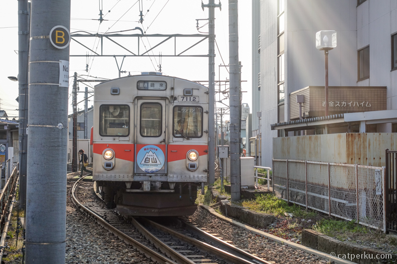 Naik kereta lokal dari Shin-Nishi Kanazawa sampai Nomachi station