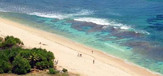 Pantai Nyang Nyang terlihat cantik dari ketinggian!