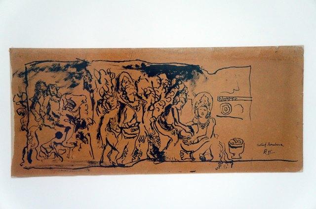 Prambanan Relief Sketch di ruangan galeri II.
