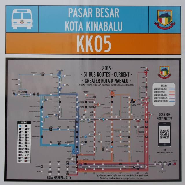 Rute Transportasi publik Kota Kinabalu cukup jelas, tetapi saya lebih suka keliling kota ini dengan berjalan kaki.