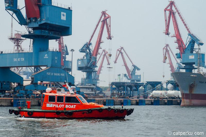 Saya banyak melihat pilot boat melintas di pelabuhan