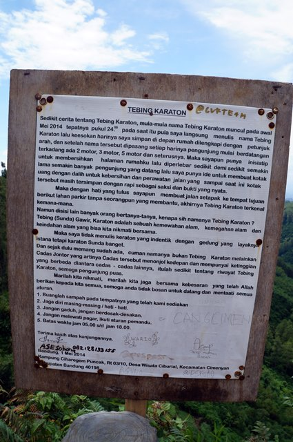 Sejarah dan asal usul Tebing Keraton.