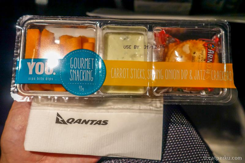 Snack dari Qantas, wortel dicocol mayonaise