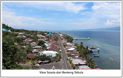 Pemandangan Kota Soasio dari atas Benteng Tohula