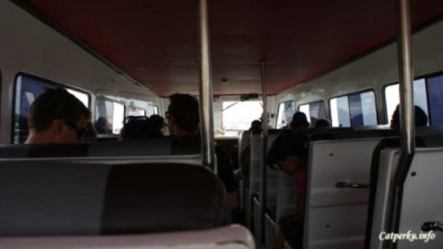 Fast Boat, didalamnya lebih mirip bus