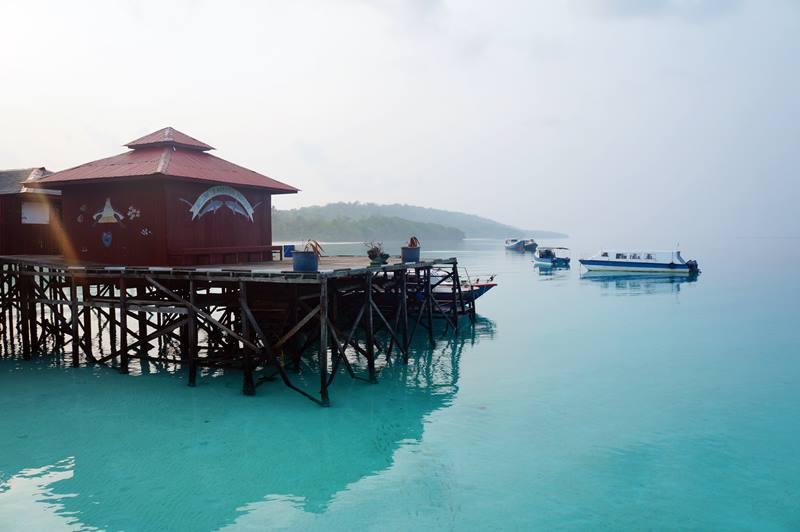 Suasana pagi hari di Maratua Paradise Resort