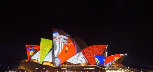 Sydney Opera House ketika festival Vivid Sydney berlansung menjadi semakin cantik