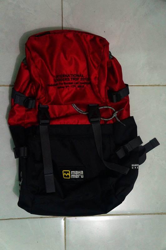 Tas Backpack #INATopBucketList International blogger trip, limited edition!