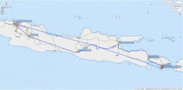 Overland Track Denpasar - Jakarta