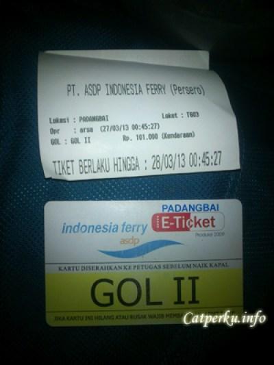 Tiket Penyeberangan Padang Bai - Lembar, Harganya Rp. 101.000 untuk sepeda motor
