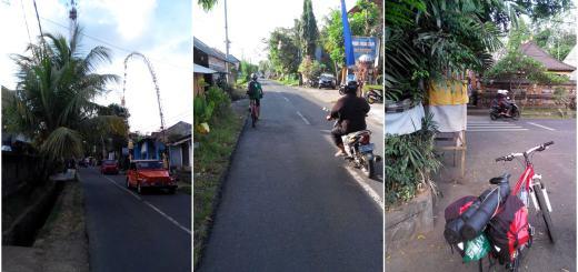 Tipikal jalanan Ubud yang bikin seneng para pecinta gowes seperti saya